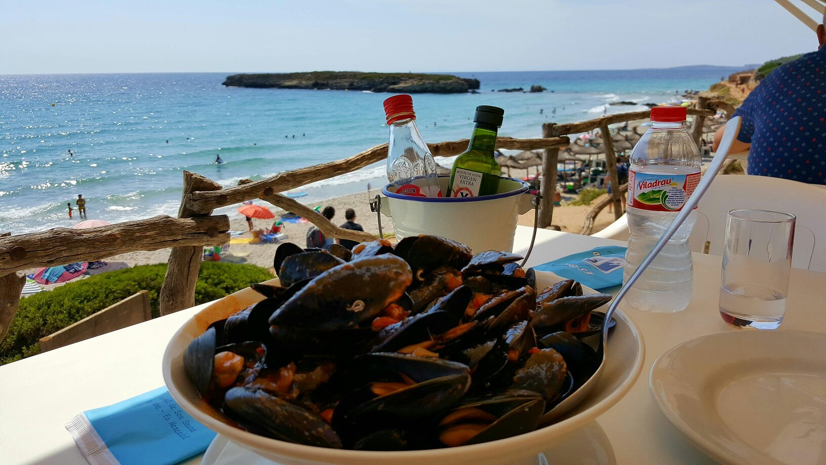 Views and food from Es Bruc Menorca