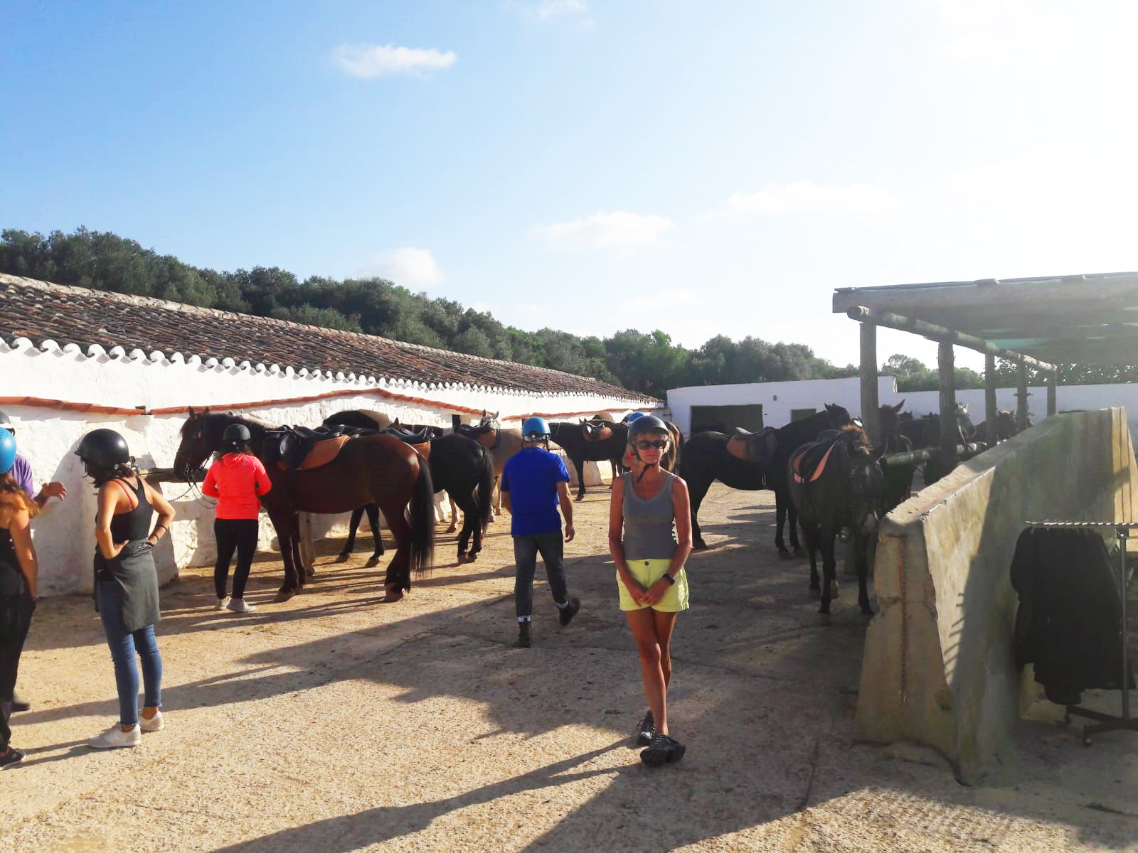 Photo of Lin before horse riding in Menorca