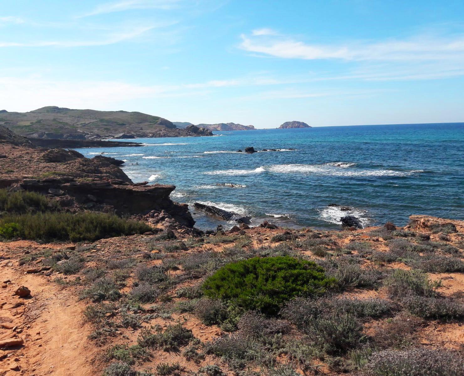 Coastal views from the south coast in Menorca