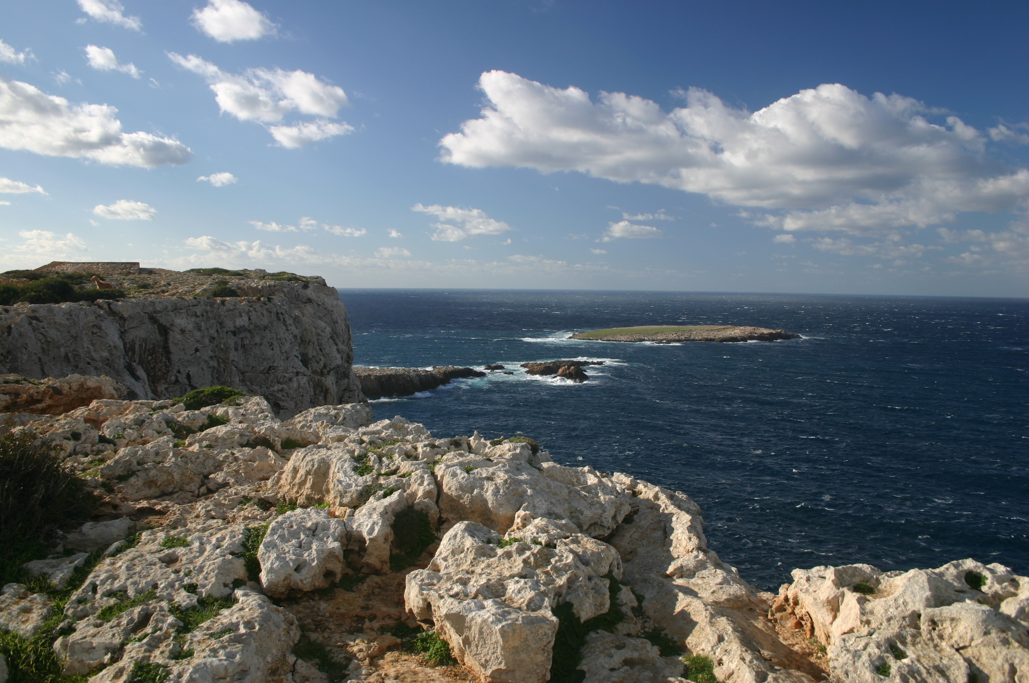 Coastal views from Cap de Cavalleria in Menorca