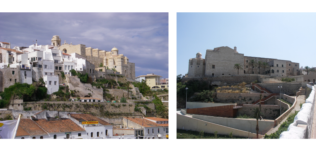 Collage of photos in Menorca