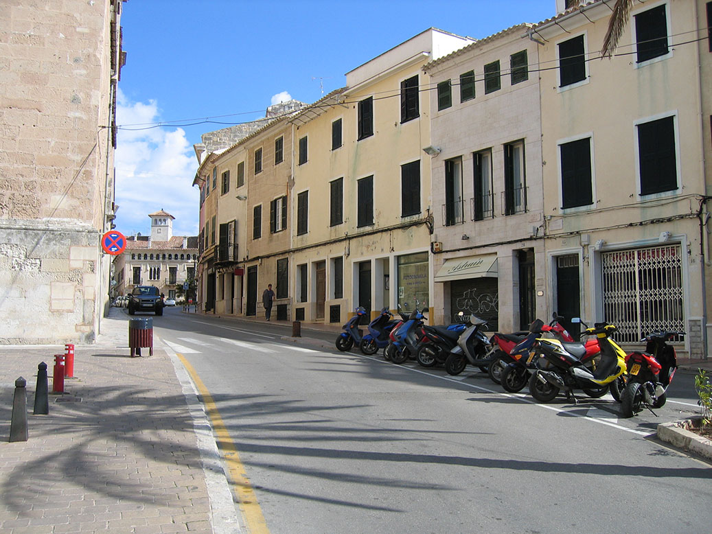 Historic streets in Mahon, Menorca