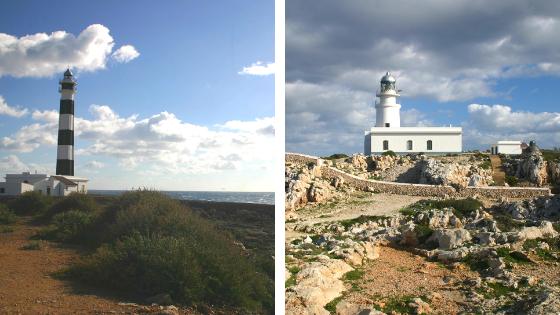 Lighthouses in Menorca