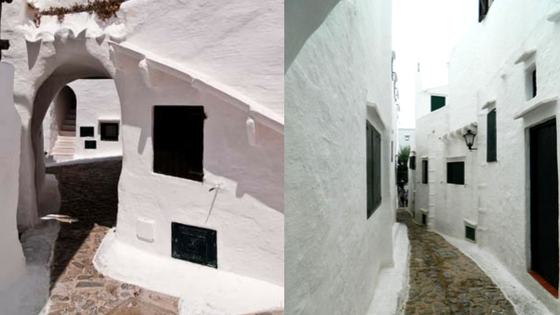 Narrow streets of Binibeca Vell