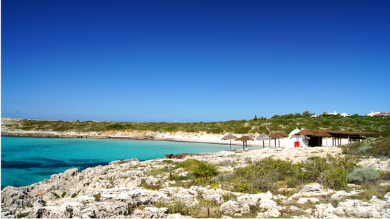 Binibeca beach in Menorca