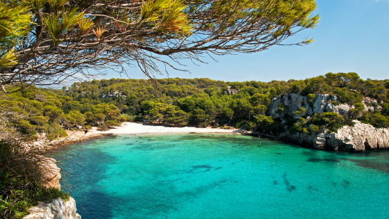 Cala Turqueta beach in Menorca