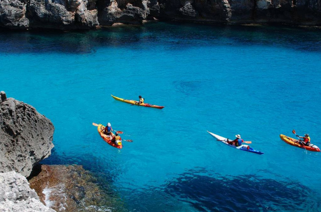 Kayaking in Menorca