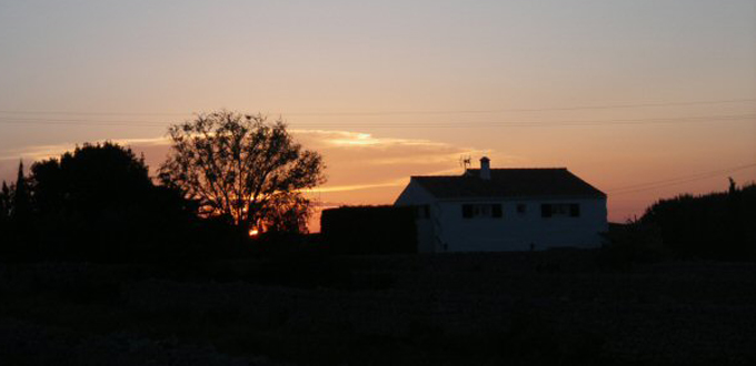 Sunset over Ferreries